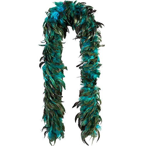 Amscan 843324 Turquoise Feather Boa for Adults, 1 Piece