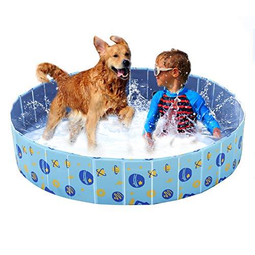 YGJT Piscina Perros Bañera Plegable Mascotas Piscina para Niños Desmontable 160 * 30cm Ducha Exterior Interior Ducha para Perros Grande,Pequeños,Gatos,Niños,Adultos