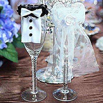 Bei wang Wedding Weinglas-Anhänger/Tischdekoration
