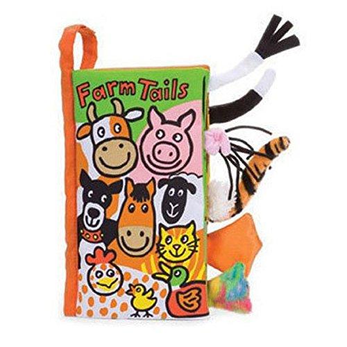 Tonsee Livre de tissu de livres de jouets de bébé de tissu de queues d'animal (G)