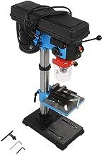 Taladro de mesa de 550 W, taladradora de columna de alta precisión con broca de 1-16 mm, 9 niveles de regulación de velocidad de rotación, altura regulable, mesa de perforación giratoria e inclinable.