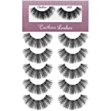 Cuckoo Eyelashes 3D False Lashes 20mm Dramatic Faux Mink Lashes 5Pairs (Cuckoo 363)