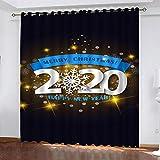 AKLIGSD Cortinas Salón,Navidad, 2020,Cortinas Plisadas a Lápiz Cortinas Opacas de Reducción de Ruido para Dormitorio Sala de Estar Oficina del,170(W) x200(H) cm