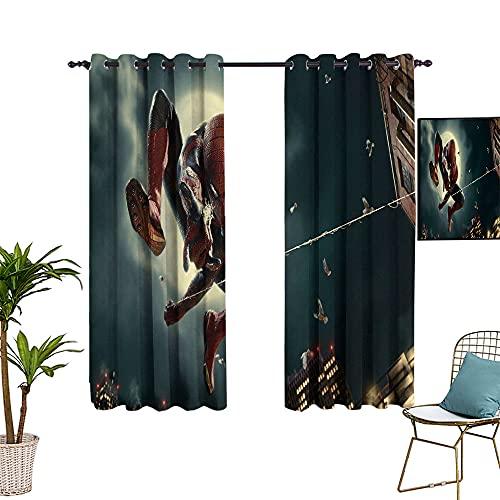 Rideaux de séparation isolants pour chambres et appartements, motif super-héros Spider_man, classique Action Art, auvent réglable 137,2 x 182,9 cm