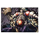 DFGAD BOIPEEI Lord of Ainz Overlord Anime Cosplay, 1000 Piece Jigsaw Puzzle for Adults, Wooden Collage Jigsaw Puzzle Anime Wooden for Kids Home Decoration Game Gift