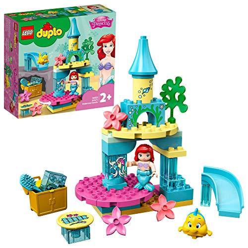 LEGO 10922 DUPLO Disney Princess Arielles Unterwasserschloss mit Arielle der kleinen Meerjungfrau, Set für Kleinkinder im Alter von 2–5 Jahren