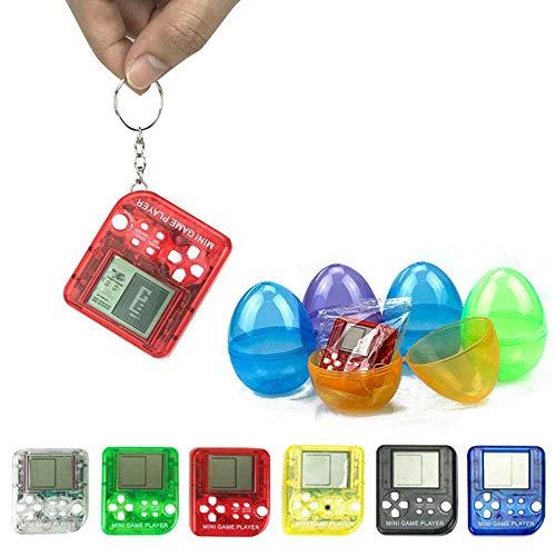 Mini console di gioco per portachiavi, con 26 giochi integrati, console portatile per bambini, giochi stile tetris, colore casuale, batteria inclusa