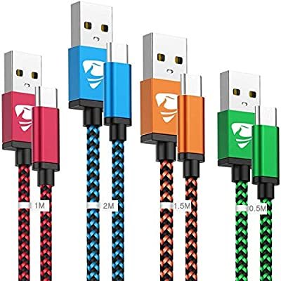 USB C Cable,4Pack[0.5m+1m+1.5m+2m]Type C Charger Cable USB-C to USB 3.0 Fast Charging Charger Lead for Samsung Galaxy S10 S9 S8 S20 FE Plus A20 A10e A30 A40 A50 A70 A90 A3 A5 Note10 9 8,Huawei,Sony