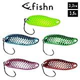 FISHN Shiny Trout Spoon Set - Größe 3,2cm, Gewicht 3,5g, Forellenköder, Forellenspoons,...
