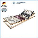 RAVENSBERGER DUOMED 7-Zonen-Teller-LEISTEN-BUCHE-Lattenrahmen | Verstellbar | Made IN Germany - 10 Jahre GARANTIE | TÜV/GS + Blauer Engel - Zertifiziert | 90 x 200 cm