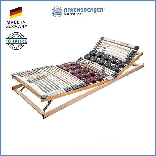 Ravensberger Matratzen DUOMED Lattenrahmen in verschiedenen Größen (80 x 200 cm, Buche Verstellbar)