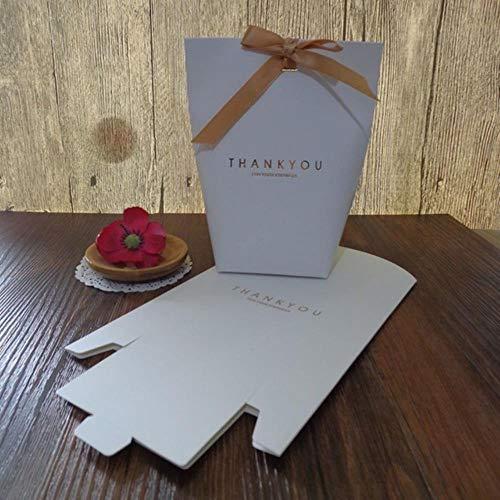 Xinger BronzingCandy Bag Franse bedankjes Trouwbedankjes Geschenkdoos Pakket VerjaardagsfeestjeGunstzakjes, Wit