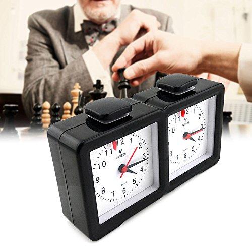 Quarz Schachuhr, Shsyue Schach Uhr Count Up Down Timer für Spiel Wettbewerb