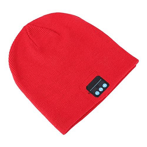 Weikeya Automático BT Música Sombrero, Beanie Música Sombrero 130 Mah 2.402ghz 11.2 * 4.5 * 10cm/4.4 * 1.8 * 3.9in con Tejido de Punto por 2 Segundos