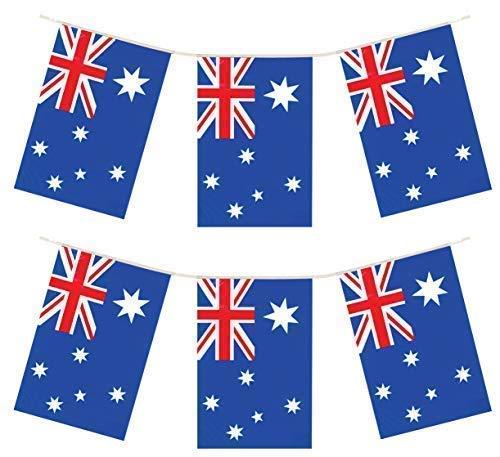 12m fanions drapeaux PVC Australien Australie Jour bannière Décoration de Fête
