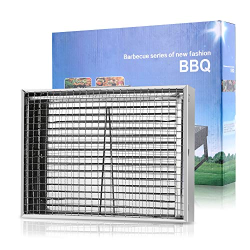 51TziqBpjaL - Gifort Portable Grill, BBQ Holzkohlegrill Tragbar Mini Grill Rostfreier Stahl Faltbare Mini Holzkohlegrill BBQ für Outdoor Garten Camping Party Beach Barbecue