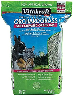 Vitakraft Orchard Grass, Premium Soft Stemmed Hay, 100% American Grown, 28 Ounce Resealable Bag from Vitakraft