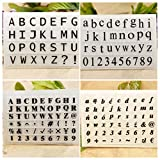Kwan Crafts 4 Sheets Different Style English Alphabet Capital...