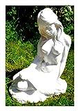 GOM Classico Garten Figur nackte Frau Lettura Buch 35 x 23 cm bruchfest PVC Deko 9031