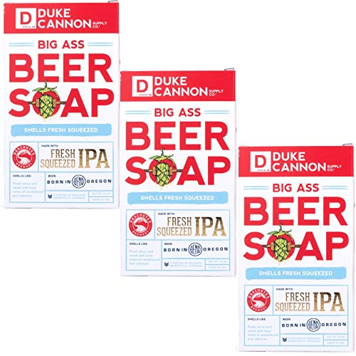 Duke Cannon Supply Co. Big Brick of Beer Soap, 10oz - Deschutes Fresh Squeezed IPA (3 Pack)
