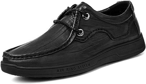 Meilleures ventes Chaussures Oxford Oxford Oxford élégant confortable de la mode Oxford Décontracté Light Simple lacets doux chaussures formelles basses Robe Oxford Chaussures ( Couleur   Noir , Taille   43 EU ) a6a