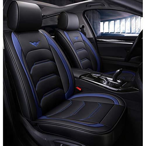 Set completo di coprisedili for auto in pelle PU impermeabile, for Audi A3 / a4 / a5 / a6 / A8 / q3 / q5 / RS4 (Colore : Black+blue-Standard)