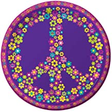 8-Count Round Paper Dinner Plates, Groovy Girl