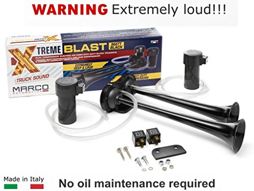 Marco Super Loud 148DB Extreme Blast Premium Air Horn Car Truck SUV Black