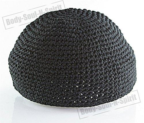 Kipà tejida NEGRA sombrero judío cubrecabeza étnica yamaka de Israel gorra
