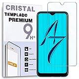 REY - Protector de Pantalla para OPPO A7 - OPPO AX7 - OPPO K7 5G, Cristal Vidrio Templado Premium