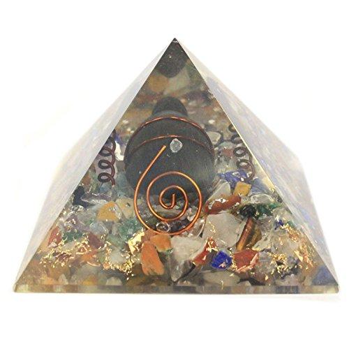 HoitoDeals 1 pieza de gemas medianas de cobre, pirámide de orgonita de tortuga, para decoración del hogar, artículo de regalo novedoso