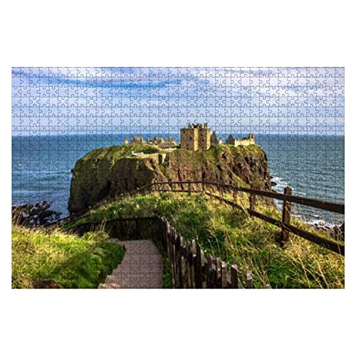 1000 piezas Stonehaven Aberdeenshire Escocia Reino Unido 10 de mayo de 2014 Dunnottar Castle Rompecabezas de piezas grandes para adultos Juguete educativo para niños Juegos creativos Entretenimiento R