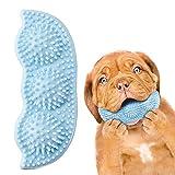 Sxiocta Juguetes de Masticación de La Dentición del Perrito, Dientes de Perro Limpieza de Perros de Limpieza Juguetes de Chísico en Forma de Guisante Juguetes de Dentición de Perro (Azul)