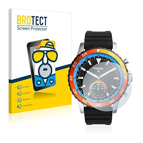 BROTECT 2X Entspiegelungs-Schutzfolie kompatibel mit Fossil Q Crewmaster Bildschirmschutz-Folie Matt, Anti-Reflex, Anti-Fingerprint