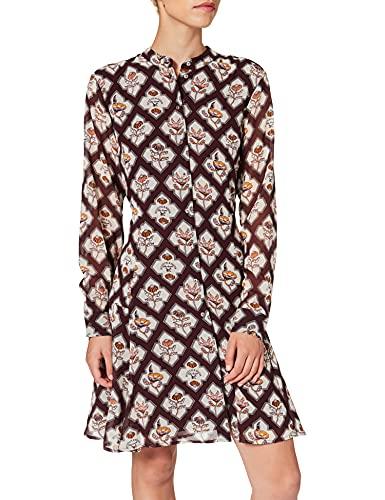 Scotch & Soda Maison Damen Bedrucktes Knopfleiste Kleid, Combo B 0218, M