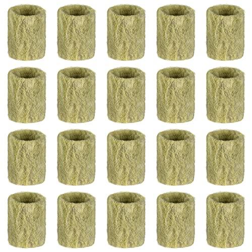 Cabilock 20 Stück Steinwolle Pflanzenstopfen Garten Hydroponik Sämling Wachsen Würfel Stecker Pflanzen Anbau Starter Stecker 2X3cm