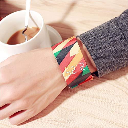 WEIHUIMEI 1 reloj de papel LED resistente al agua, superluminoso, duradero, creativo reloj inteligente para hombres, mujeres, niños y niñas (4#)