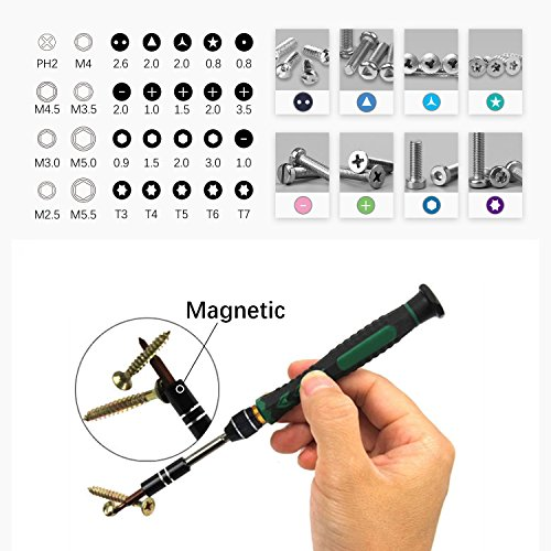 38 in 1 Precision Screwdriver Set Repair Tool Kit for iPad, iPhone, Laptop and More Tablet Computer Electronic Devices (38 in 1)