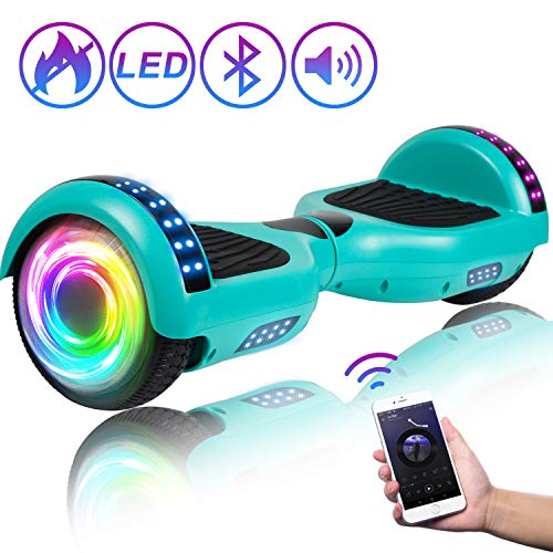 "Best Price SISIGAD Hoverboard 6.5"" Self Balancing Scooter with Colorful LED Wheels Lights Two-Whee..."