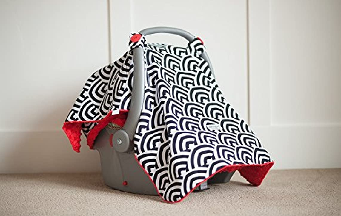 Carseat Canopy (Soloman) Baby Infant Car Seat Cover W/attachment Straps and Minky Fabric