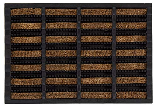 andiamo Fußmatte Robusta aus Kokosfasern Sauberlaufmatte für drinnen und draußen, Gummi/Kokos, 40 x 60 cm