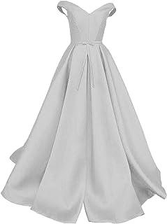 Satén Una línea Larga Simple Vestidos de Quinceañera Formal Fiesta de Fiesta Vestido de Fiesta Vestido de Bola