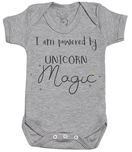 I Am PoweRouge by Unicorn Magic Cadeau bébé, Cadeau Bébé garçon, Cadeau Bébé Fille, Body Bébé garçon, Body Bébé Fille - Naissance Gris