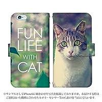 HTC10 HTV32 手帳型 ケース [デザイン:15.キジトラ白猫/マグネットハンドあり] 猫 エイチティーシー スマホ カバー