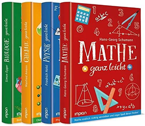 Mathe, Physik, Chemie und Biologie ganz leicht im Paket: 4 Bücher in einem