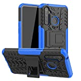 Dedux Funda OPPO Realme 5 Pro, [Tough Armor Series] Robusta Armadura Híbrida TPU/PC, Protector Interno TPU a Prueba de Golpes + Soporte Plegable Funda, Azul