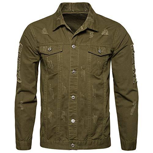 Mens Denim Jacket Casual Jacket Classic Trucker Jacket Retro Style Fashion Casual Jeans Coat Buttoned Streetwear Urban Modern Style Winter Autumn Outwear M