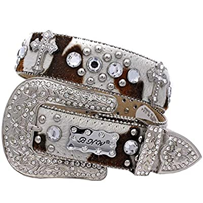 Girls Small Western Rhinestone Cowgirl Belts Womens Adult Small Western Belts (226-COWPRINT)