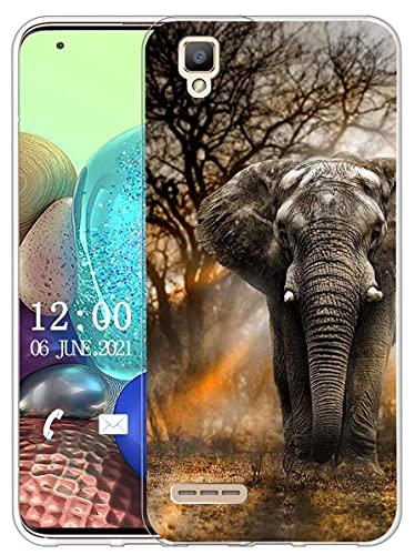 Sunrive Kompatibel mit Oppo F1 Hülle Silikon, Transparent Handyhülle Schutzhülle Etui Hülle (X Elefant)+Gratis Universal Eingabestift MEHRWEG