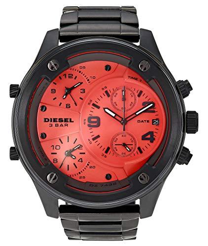 Diesel Men's Boltdown Quartz Watch with Stainless Steel Strap, Gunmetal, 26 (Model: DZ7432)